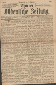 Thorner Ostdeutsche Zeitung. 1892, № 218 (17 September)