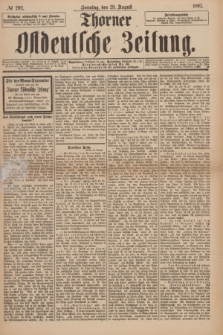 Thorner Ostdeutsche Zeitung. 1897, № 202 (29 August) + dod.