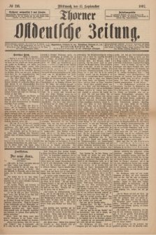Thorner Ostdeutsche Zeitung. 1897, № 216 (15 September)