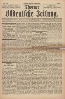 Thorner Ostdeutsche Zeitung. 1897, № 224 (24 September) + dod.