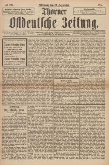 Thorner Ostdeutsche Zeitung. 1897, № 228 (29 September) + dod.