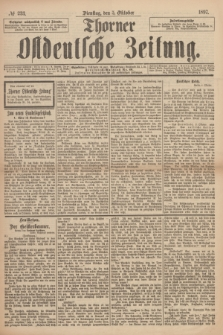 Thorner Ostdeutsche Zeitung. 1897, № 233 (5 Oktober) + dod.