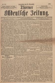 Thorner Ostdeutsche Zeitung. 1897, № 272 (20 November)