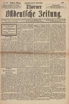 Thorner Ostdeutsche Zeitung. 1897, № 273 (21 November) - Erstes Blatt