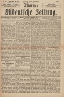 Thorner Ostdeutsche Zeitung. 1897, № 273 (21 November) - Zweites Blatt + wkładka