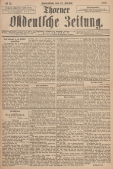 Thorner Ostdeutsche Zeitung. 1893, № 12 (14 Januar)