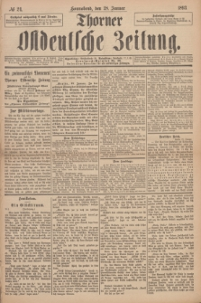Thorner Ostdeutsche Zeitung. 1893, № 24 (28 Januar)