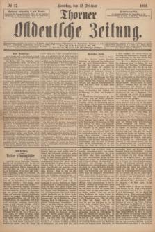 Thorner Ostdeutsche Zeitung. 1893, № 37 (12 Februar) + dod.