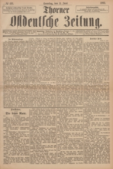 Thorner Ostdeutsche Zeitung. 1893, № 135 (11 Juni) + dod.