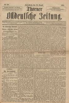 Thorner Ostdeutsche Zeitung. 1893, № 200 (26 August)