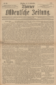 Thorner Ostdeutsche Zeitung. 1893, № 208 (5 September)