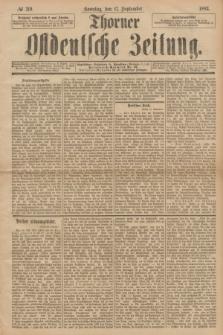 Thorner Ostdeutsche Zeitung. 1893, № 219 (17 September) + dod.