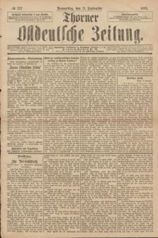 Thorner Ostdeutsche Zeitung. 1893, № 222 (21 September)