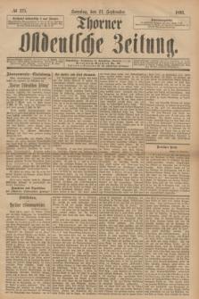 Thorner Ostdeutsche Zeitung. 1893, № 225 (24 September) + dod.