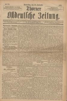Thorner Ostdeutsche Zeitung. 1893, № 228 (28 September)
