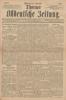 Thorner Ostdeutsche Zeitung. 1893, № 257 (1 November) + dod.