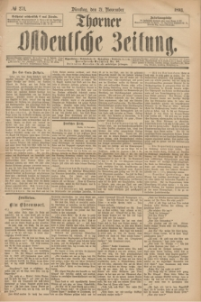 Thorner Ostdeutsche Zeitung. 1893, № 274 (21 November)