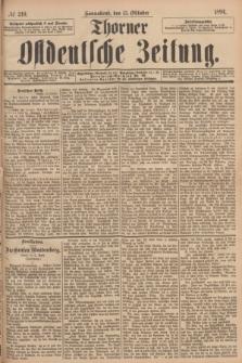 Thorner Ostdeutsche Zeitung. 1894, № 240 (13 Oktober)