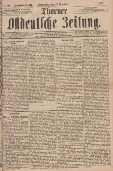 Thorner Ostdeutsche Zeitung. 1894, № 291 (13 Dezember) - Zweites Blatt