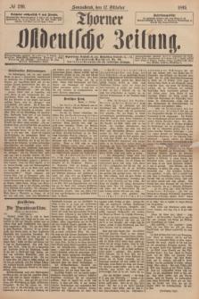 Thorner Ostdeutsche Zeitung. 1895, № 240 (12 Oktober)