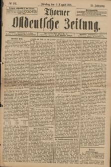 Thorner Ostdeutsche Zeitung. Jg.25[!], № 184 (9 August 1898) + dod.