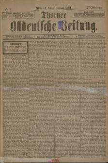 Thorner Ostdeutsche Zeitung. Jg.27, № 1 (3 Januar 1900) + dod.