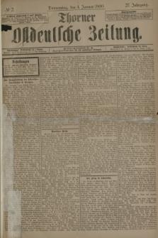 Thorner Ostdeutsche Zeitung. Jg.27, № 2 (4 Januar 1900) + dod.