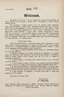 [Kadencja VII, sesja III, al.149] Alegata do Sprawozdań Stenograficznych z Trzeciej Sesyi Siódmego Peryodu Sejmu Krajowego Królestwa Galicyi i Lodomeryi wraz z Wielkiem Księstwem Krakowskiem z roku 1897/8. Alegat149