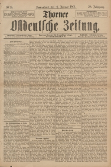 Thorner Ostdeutsche Zeitung. Jg.28, № 16 (19 Januar 1901) + dod.