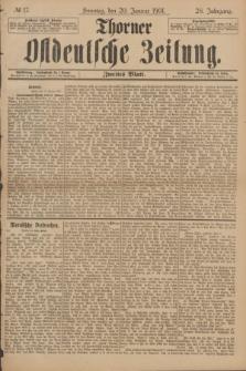 Thorner Ostdeutsche Zeitung. Jg.28, № 17 (20 Januar 1901) - Zweites Blatt
