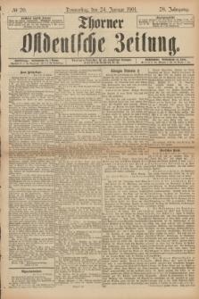 Thorner Ostdeutsche Zeitung. Jg.28, № 20 (24 Januar 1901) + dod.