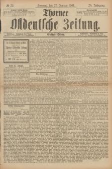 Thorner Ostdeutsche Zeitung. Jg.28, № 23 (27 Januar 1901) - Erstes Blatt