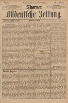 Thorner Ostdeutsche Zeitung. Jg.28, № 29 (3 Februar 1901) - Zweites Blatt