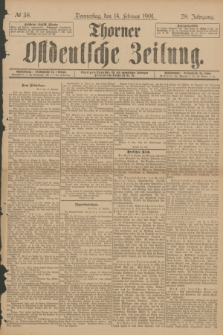 Thorner Ostdeutsche Zeitung. Jg.28, № 38 (14 Februar 1901) + dod.