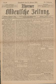 Thorner Ostdeutsche Zeitung. Jg.28, № 40 (16 Februar 1901) + dod.
