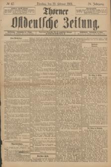 Thorner Ostdeutsche Zeitung. Jg.28, № 42 (19 Februar 1901) + dod.