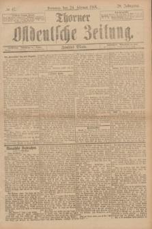 Thorner Ostdeutsche Zeitung. Jg.28, № 47 (24 Februar 1901) - Zweites Blatt