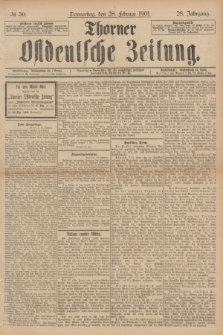 Thorner Ostdeutsche Zeitung. Jg.28, № 50 (28 Februar 1901) + dod.