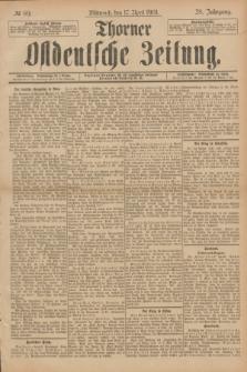 Thorner Ostdeutsche Zeitung. Jg.28, № 89 (17 April 1901) + dod.