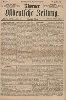 Thorner Ostdeutsche Zeitung. Jg.28, № 205 (1 September 1901) - Zweites Blatt