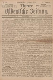 Thorner Ostdeutsche Zeitung. Jg.28, № 210 (7 September 1901) + dod.