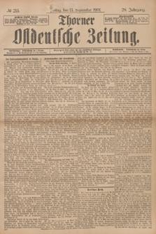 Thorner Ostdeutsche Zeitung. Jg.28, № 215 (13 September 1901) + dod.