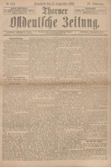 Thorner Ostdeutsche Zeitung. Jg.28, № 222 (21 September 1901) + dod.