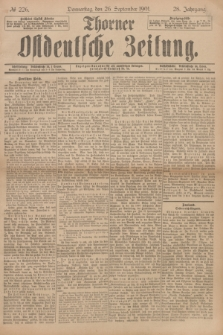Thorner Ostdeutsche Zeitung. Jg.28, № 226 (26 September 1901) + dod.