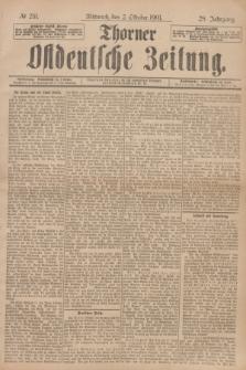 Thorner Ostdeutsche Zeitung. Jg.28, № 231 (2 Oktober 1901) + dod.