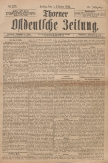 Thorner Ostdeutsche Zeitung. Jg.28, № 233 (4 Oktober 1901) + dod.