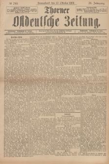 Thorner Ostdeutsche Zeitung. Jg.28, № 240 (12 Oktober 1901) + dod.