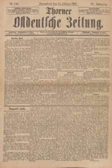 Thorner Ostdeutsche Zeitung. Jg.28, № 246 (19 Oktober 1901) + dod.