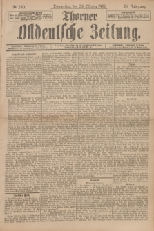 Thorner Ostdeutsche Zeitung. Jg.28, № 250 (24 Oktober 1901) + dod.
