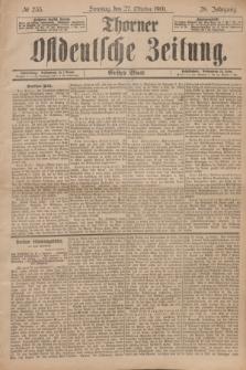 Thorner Ostdeutsche Zeitung. Jg.28, № 253 (27 Oktober 1901) - Erstes Blatt